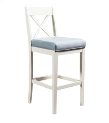 24'' Bar Stool, Available in Cottage White Finish Only.