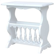 Magazine Stand Table - Wht