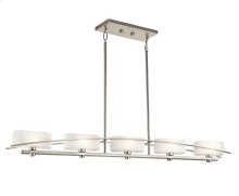 Suspension Collection Suspension 5 Light Halogen Linear Chandelier - NI