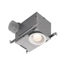70 CFM Recessed Fan/Light, with White trim
