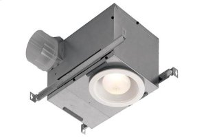 70 CFM Recessed Fan/Light, with White trim Product Image