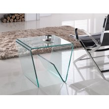 The Capri Clear End Table
