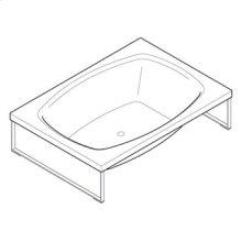 Bath tub made in methacrylate Kaos 2 free standing. 2000 x 1400 x h 510