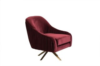 Eloise Swivel Accent Chair Red