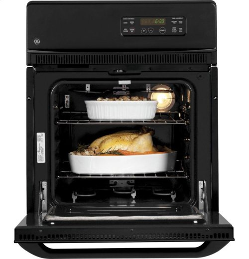 "GE® 24"" Electric Single Self-Cleaning Wall Oven"