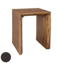 Teak Slab Side Table