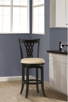 Embassy Swivel Bar Stool - Rubbed Black/ Cream