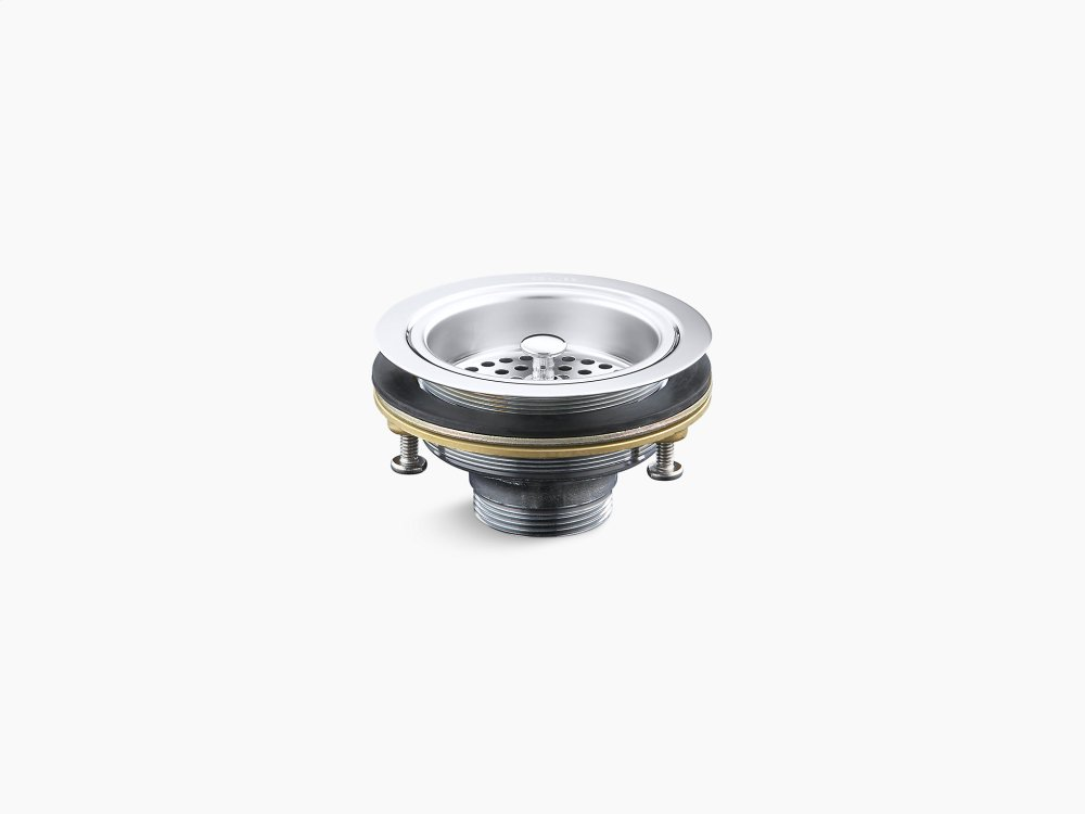 Polished Chrome Sink Drain and Strainer K8799CP
