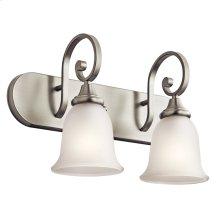 Monroe 2 Light LED Vanity Light with LED Bulbs Brushed Nickel