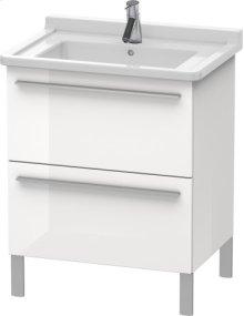 Vanity Unit Floorstanding, White High Gloss Lacquer