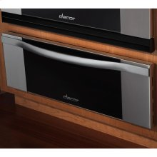 """Renaissance 27"""" Millennia Warming Drawer, in Stainless Steel with Vertical Black Glass"""
