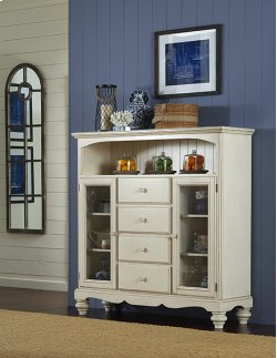 Pine Island Baker's Cabinet - Old White Product Image