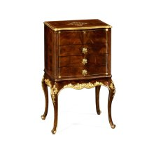 Mahogany & Gilded Jewellery Collectors Cabinet