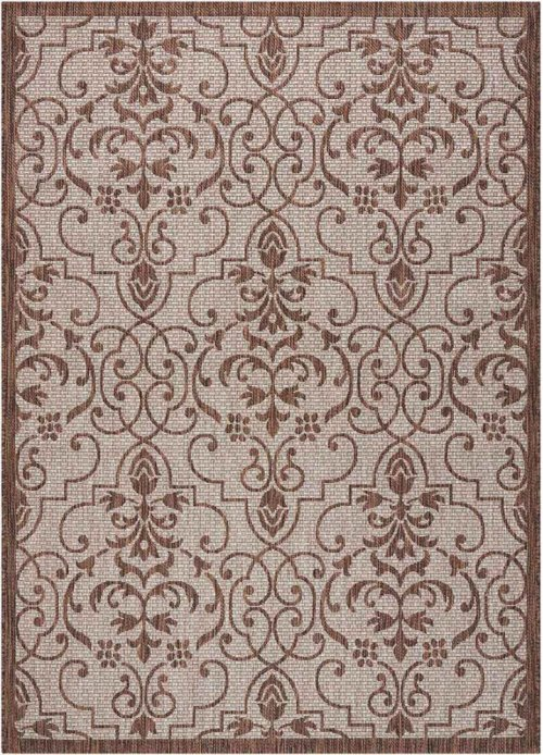 Country Side Ctr04 Natural Rectangle Rug 5'3'' X 7'3''