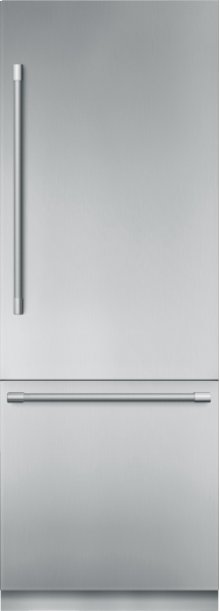 30 - Inch Pre-Assembled Built-In Bottom Freezer with Professional Handles