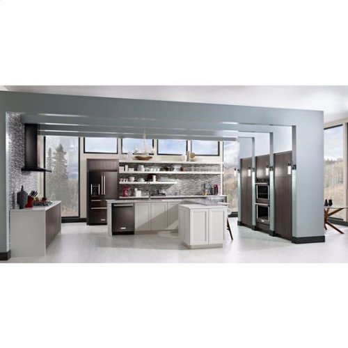 """KitchenAid® 36"""" Wall-Mount, 3-Speed Canopy Hood - Black Stainless"""