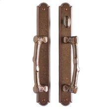 """Arched Patio Sliding Door Set - 1 3/4"""" x 13"""" White Bronze Dark"""
