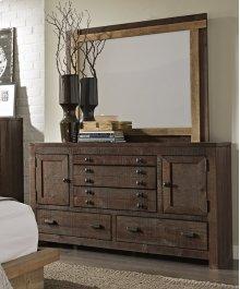 Drawer Dresser - Distressed Dark Pine Finish