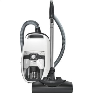 MieleBagless canister vacuum cleaners with turbo brush for hard floor and low, medium-pile carpeting.