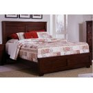 5/0 Queen Complete Bed - Espresso Pine Finish Product Image