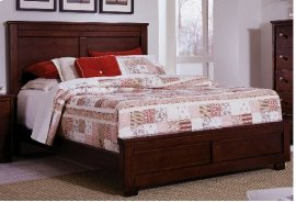 6/6 King Complete Bed - Espresso Pine Finish