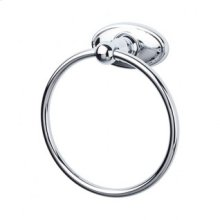 Edwardian Bath Ring Oval Backplate - Polished Chrome