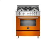 30 4-Burner, Gas Oven Orange