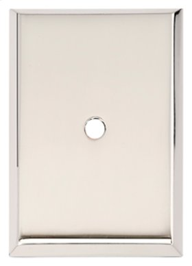 Traditional Backplate A610-45 - Polished Nickel