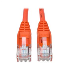 Cat5e 350 MHz Snagless Molded UTP Patch Cable (RJ45 M/M), Orange, 25 ft.