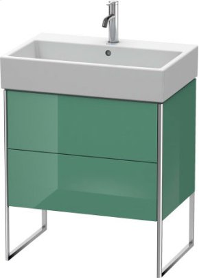 Vanity Unit Floorstanding, For Vero Air # 235070jade High Gloss Lacquer