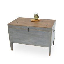 Trunk Side Table W/ Secret Storage