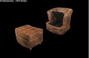 7423 Storage Barrel Chair