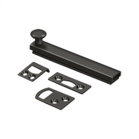 """4"""" Surface Bolt, Concealed Screw, HD - Oil-rubbed Bronze"""