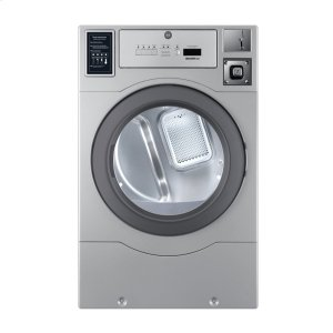 Crossover 2.0Crossover True Commercial Laundry - 7.0 CF Heavy Duty Top Control Electric Dryer, Coin Option Included/Card Ready, Silver, 27""