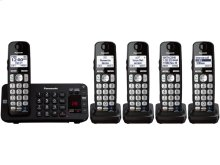 Expandable Cordless Phone with Enhanced Noise Reduction- 5 Handsets