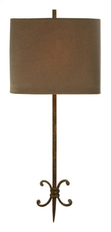 Visual Comfort SK2009NR-TL Suzanne Kasler Roswell 2 Light 11 inch Natural Rusted Iron Decorative Wall Light in Tissue Silk