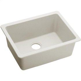 "Elkay Quartz Luxe 24-5/8"" x 18-1/2"" x 9-1/2"", Single Bowl Undermount Sink, Ricotta"