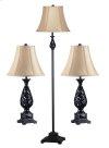 Prescott - 3-Pack - 2 Table Lamps, 1 Floor Lamp