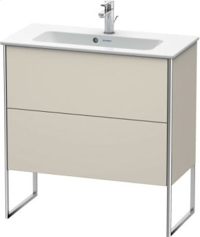 Vanity Unit Floorstanding Compact, Taupe Matt (decor)