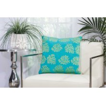 "Outdoor Pillow L1520 Turqois Green 18"" X 18"" Throw Pillow"