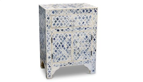 """Kiran Blue Accent Cabinet 17.5"""" X 12"""" X 24"""""""