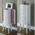White Jewelry Armoire Product Image