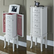 White Jewelry Armoire