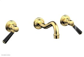 HENRI Wall Tub Set - Marble Lever Handles 161-58 - Polished Gold