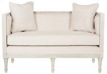 Leandra Rustic French Country Settee - Beige / Rustic Grey