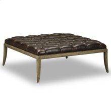 Florence Tufted Ottoman - Shalimar Cocoa