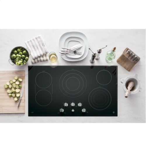 """GE Cafe™ Series 36"""" Built-In Knob Control Electric Cooktop"""