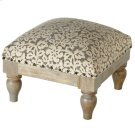 Grey Floral Block Print Stool (Each One Will Vary) Product Image