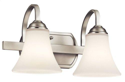 Keiran 2 Light Vanity Light Brushed Nickel