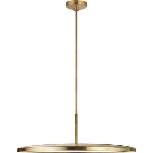 Visual Comfort PB5003NB Peter Bristol Dot LED 23 inch Natural Brass Pendant Ceiling Light